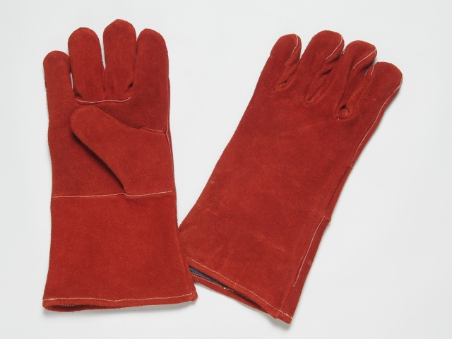 Excellent abrasion resistance, all leather gloves.