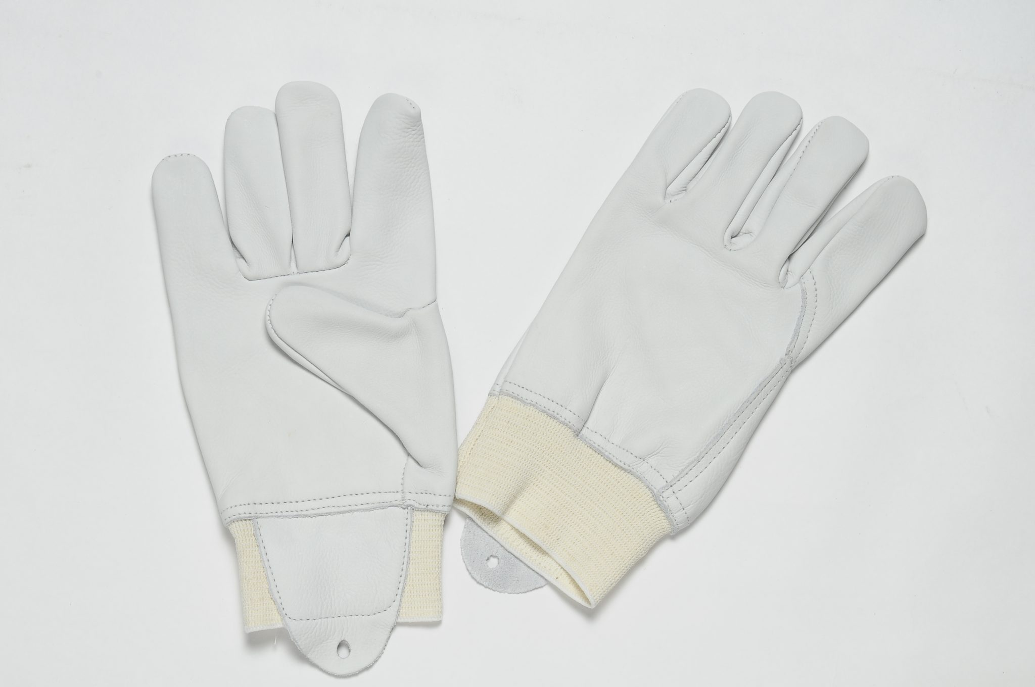 NATURAL GRAIN GLOVES WITH 60MM ELASTIC WITH LARGE PULSE PROTECTION